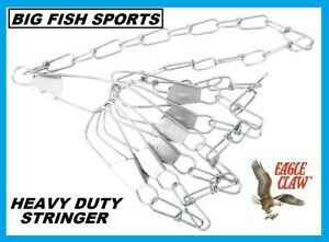 """EAGLE CLAW Invincible Chain Stringer 40"""" In 7-Snap Silver 1 Piece #04310-005 NEW"""