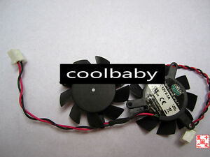 CoolerMaster DF0401012RFMN Graphics card cooling fan DC12V 0.1A 2Pin