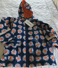 Girls Marimekko Raincoat Size 4Y Navy/Orange Floral Arnikka NWT