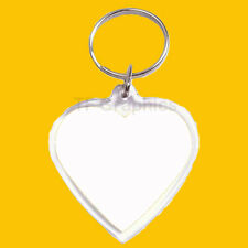 Design Your Own Personalised Photo Custom Heart Shaped Keyring Size 39mm x 39mm
