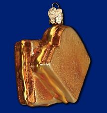 GRILLED CHEESE SANDWICH OLD WORLD CHRISTMAS GLASS LUNCH FOOD ORNAMENT NWT 32187