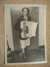 Attilio Tillio Accordian Player With Shorts On The Vagabonds Photograph Original