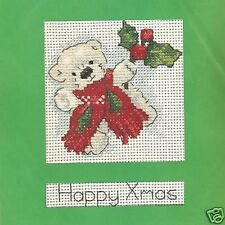 Happy Christmas Bear Counted Cross Stitch Card Kit