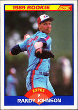 1989 Rookie Randy Johnson Montreal Expos #645 Score Baseball Card