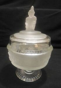 EAPG Reproduction   Westward Ho  Candy Dish or Compote  L.G. Wright