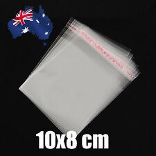 100pcs  10 x 8 cm Clear Self Adhesive Seal Plastic Bags Cellophane