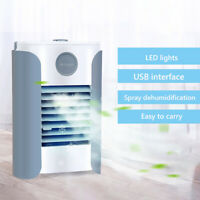 KQ_ Portable USB 3 Speed Air Conditioning Humidifier Cooler Home Office Cooling