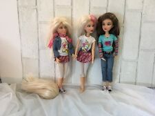 Lot Of 3 Spin Masters Liv Dolls With Wigs  Some Clothes