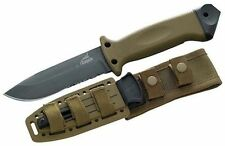 Gerber LMF 11 Infantry Knife Coyote Tan Inc. Leg Straps, Military, Army, Hunting