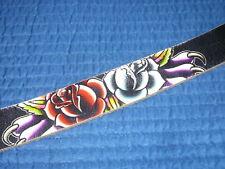 Ed Hardy Women Leather Belt Black Panther Roses Studded EH3100 Medium  7004