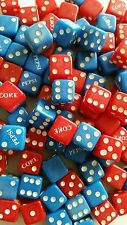 50 pairs 100 pieces of Coke  and Pepsi Advertising Dice 60's- 70's (lot #1)