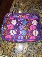 Wildkin Peace Signs Purple Lunch Box Insulated and easy-to-clean