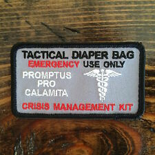 Tactical Diaper Bag Patch- Gun Metal Grey