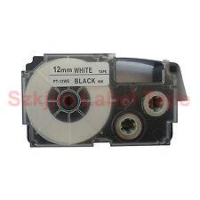 Compatible Casio XR-12WE Black on White 12mm 8m Label Tape KL100 KL120 XR-12WE1
