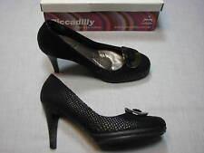 8.5 M Piccadilly Black Faux Snakeskin Ladies Shoes Womens Stiletoes High Heels