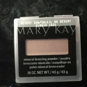 Mary Kay Mineral  ** DESERT SUN** Pressed Powder bronzer PERFECT! free brush too