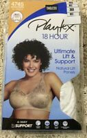 NWT Bra Playtex 18 Hour 4745 Ultimate Lift & Support Wirefree Panels White 36B