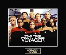 """Star Trek Voyager Cast & Crew 8"""" x 10"""" Photo - 11"""" x 14"""" Black Matted"""