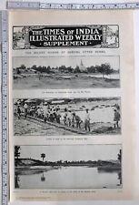 1910 Inde Imprimé Plombier Shwebo Supérieur Burma Coolies au Travail Protection
