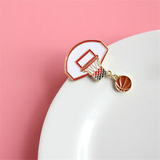Pin Brooch Alloy Badge Pins Gifts New Cute Exquisite Basketball Ball Box Frame