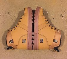 DC Woodland Boots Men's Size 6.5 US Wheat Turkish Coffee Moc Toe Boots BMX MOTO