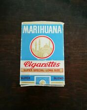 Vintage Farce Et Attrape Paquet Cigarettes Marihuana Western Germany