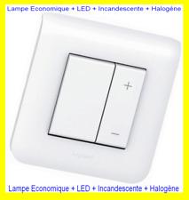 Legrand MOSAIC Blanc,Interrupteur Variateur à Mémoire,,Complet,Prêt à Poser,300W