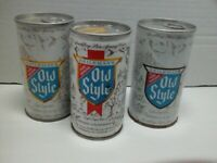 Heilemans Old style Pull Tab Tin Vintage Beer Cans 3 different Styles of cans