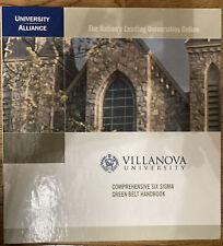 Villanova University Six Sigma Green Belt Full Online Program Course Materials