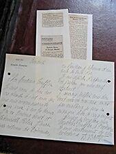 BEATRICE BRETTY Autographe Signé 1920 ACTRICE COMEDIE-FRANCAISE à TRUFFIER