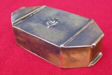 "RARE ANTIQUE FOLK ART 1 DIAL ""TRICK"" / PUZZLE SNUFF BOX c.1800"