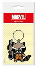 MARVEL GUARDIANS GALAXY ROCKET RACOON RUBBER KEYRING NEW OFFICIAL MERCHANDISE