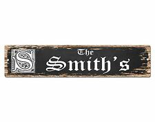 SP0438 The SMITH'S Family name Sign Bar Store Shop Cafe Home Chic Decor Gift