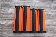 Fly Protection Leg Wraps/Leggings For Horses, Straight Fly Boots Set Of 4,Orange