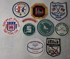 Vintage Hockey Patch Lot Of 10 Dayton Travel Europe North Flint 1970