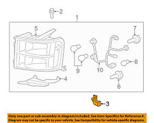 GM OEM Headlight Head Light Lamp-Headlamp Assembly Lower Support Right 15927320