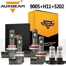 AUXBEAM 9005 H11 LED Headlight 5202 H16 Fog 6000K for Chevy Silverado 1500 07-15