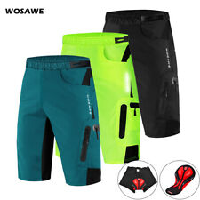 Cycling Baggy Shorts Unremovable Gel Pads Casual Sports Loose Short Pants Mens