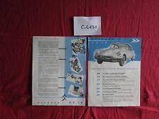 C.4131  /  CITROEN DS 19  : 1er prospectus du salon 1955