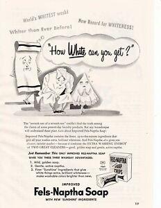Vintage 1950 Fels-Naptha Soap Chips Laundry Detergent Orig Print ad Art 8x11 GHM