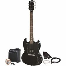 Maestro by Gibson MESGBKCH Double Cutaway Electric Guitar Kit Black New