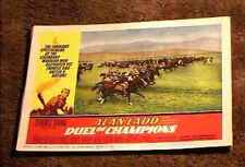 DUEL OF CHAMPIONS 1964 LOBBY CARD #7 ALAN LADD BATTLE SCENE