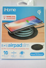 iHome Ultra Slim Airpad Wireless Charging Pad in Black