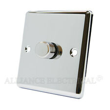 Polished Mirror Chrome Classical Dimmer 400W 1 Gang - CPC1GDIM40