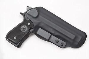 Badger State Holsters- Beretta 92 FS IWB Tuckable Black Custom Kydex
