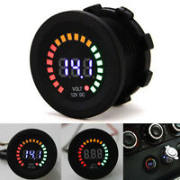 Car Motorcycle Boat Waterproof Blue LED Digital Display Voltmeter Voltage Volt
