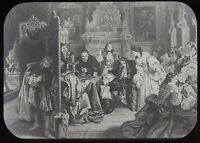 Glass Magic Lantern Slide THE DEJECTION OF KING JAMES II C1890 DRAWING ROYALTY