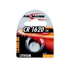 PILE BOUTON CR1620 LITHIUM - 3V ANSMANN - BLISTER 1 PILE