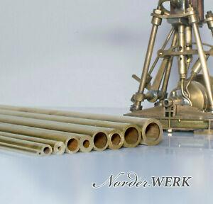 Messingrohr 1mm bis 2mm Wandung - 1mm, 3mm, 4mm, 5mm, 6mm, 8mm, 10mm - 0,5m lang