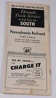 Vintage Pennsylvania Railroad Timetable New York + South April 24, 1960